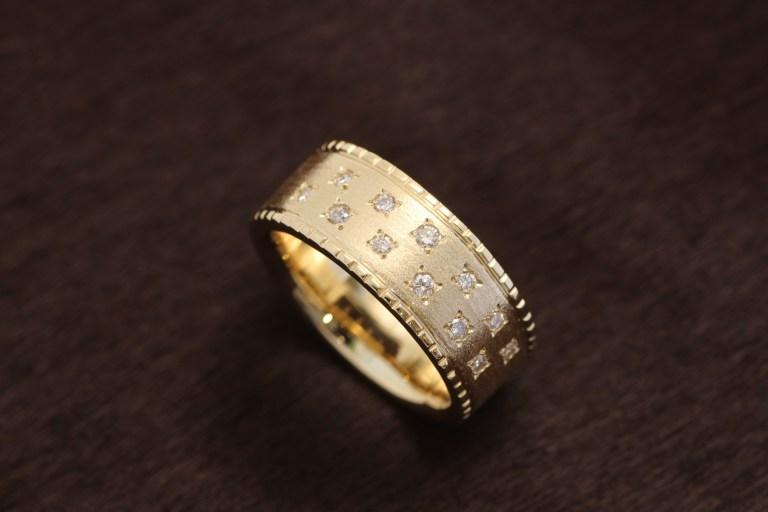 18金ダイヤモンドのオーダーメイドリング