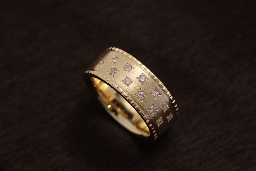 メレーダイヤモンドのジュエリーリフォーム K18リング