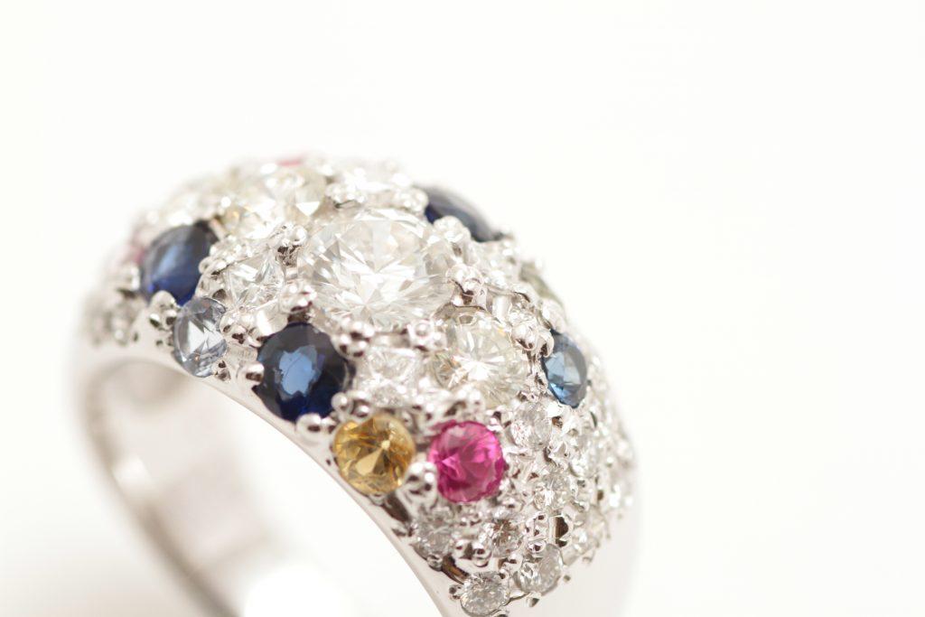 宝石全部乗せの指輪リフォームが完成です! by ジュエリーTAKA