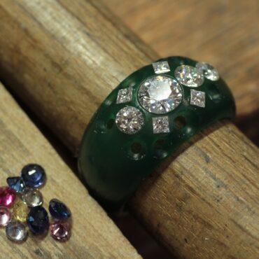 宝石全部乗せリング 指輪リフォーム