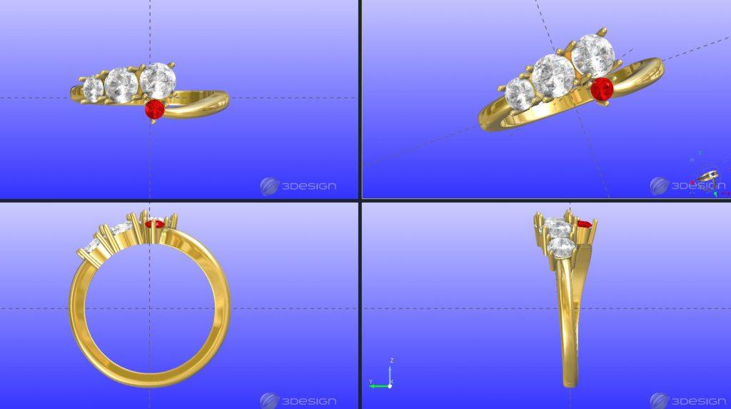 3DCADの指輪の画像