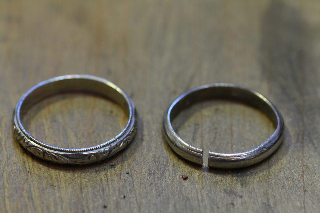 結婚指輪 お直し前