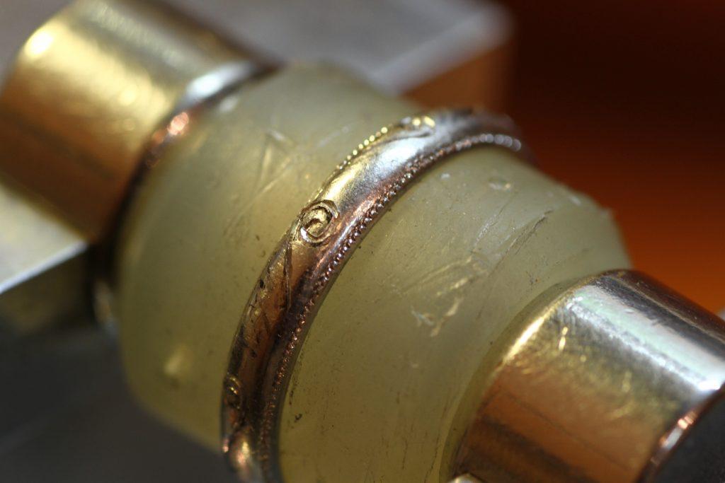 和彫り復元 プラチナの指輪