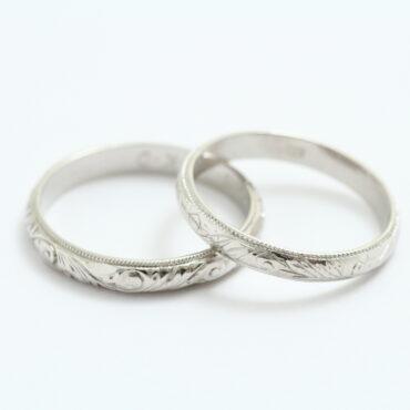 結婚指輪の和彫り 修理