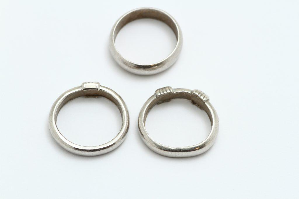 プラチナの指輪 変形 キズ取り 修理