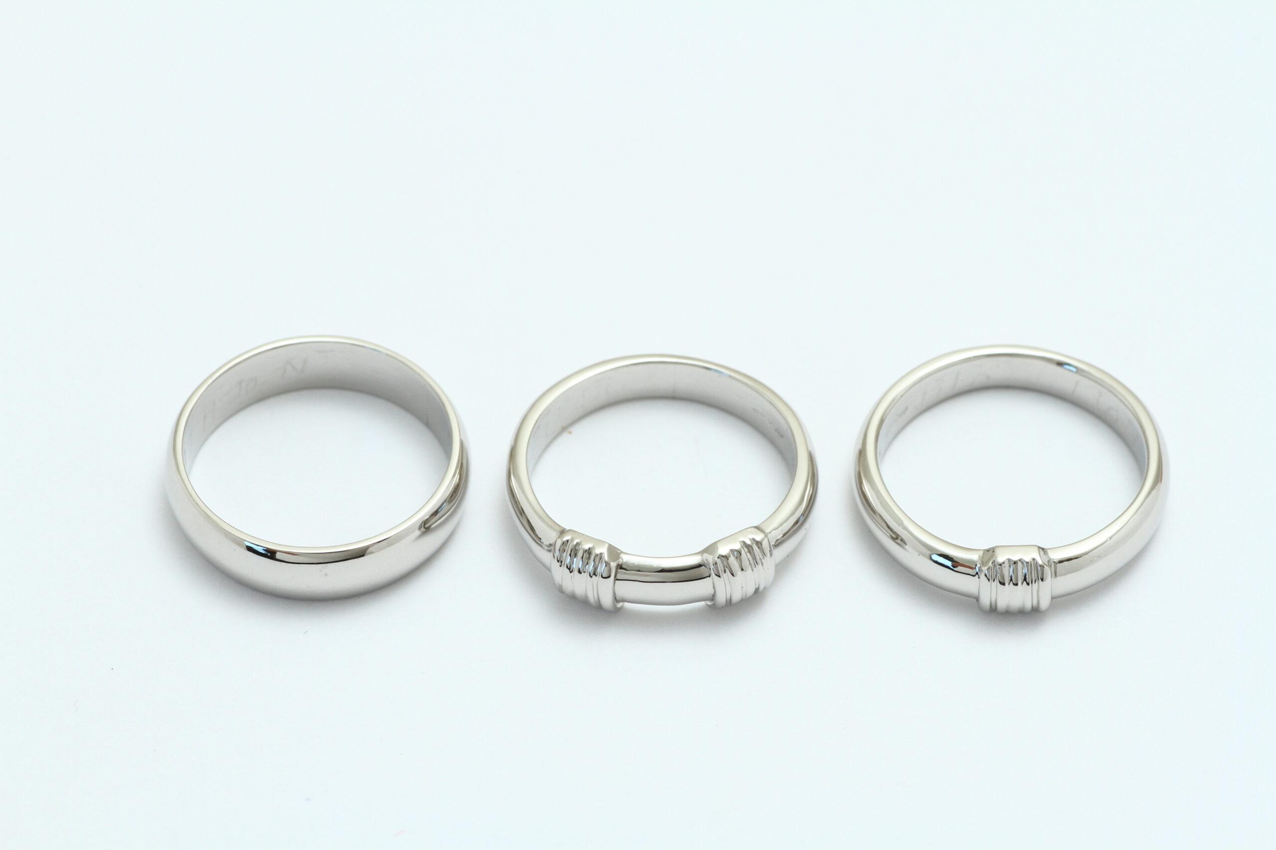 プラチナの指輪 修理 完成