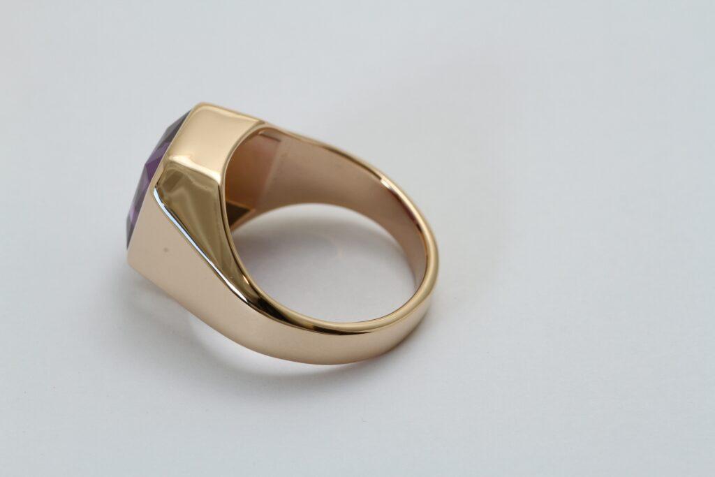 指輪の修理 アメジスト