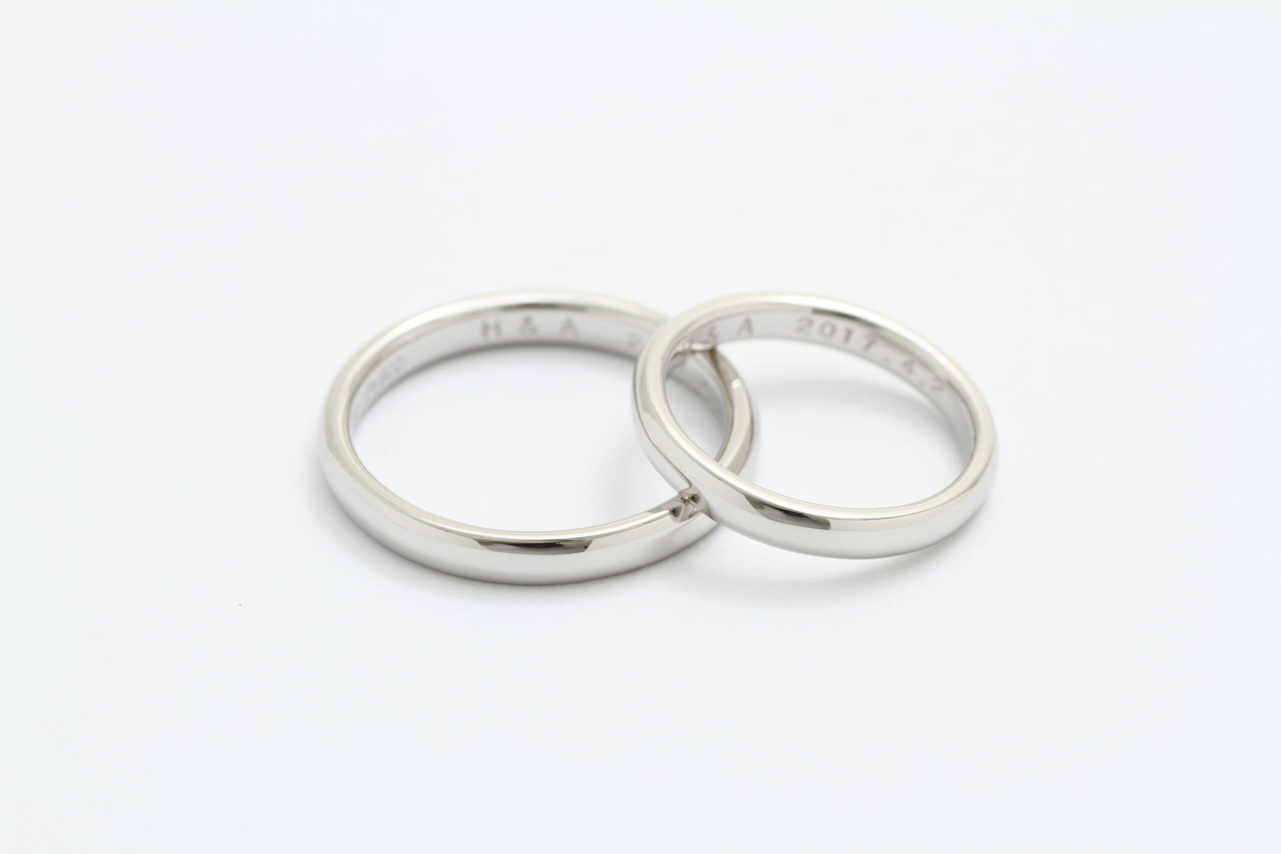 結婚指輪 甲丸リング オーダーメイド
