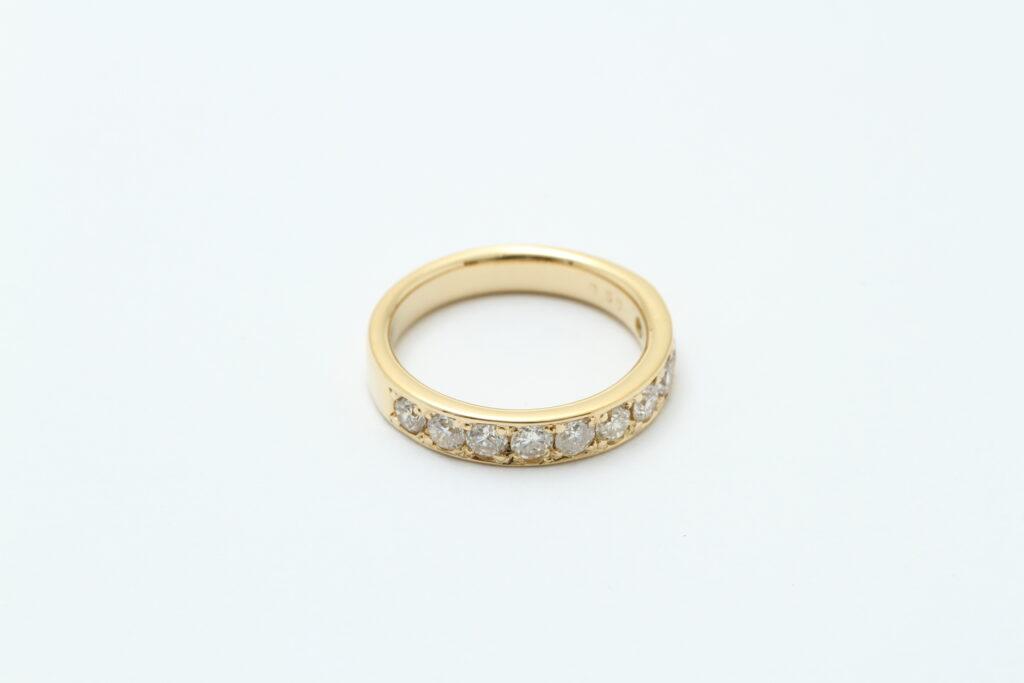 ダイヤモンドの指輪 ダイヤ抜け修理 アフター
