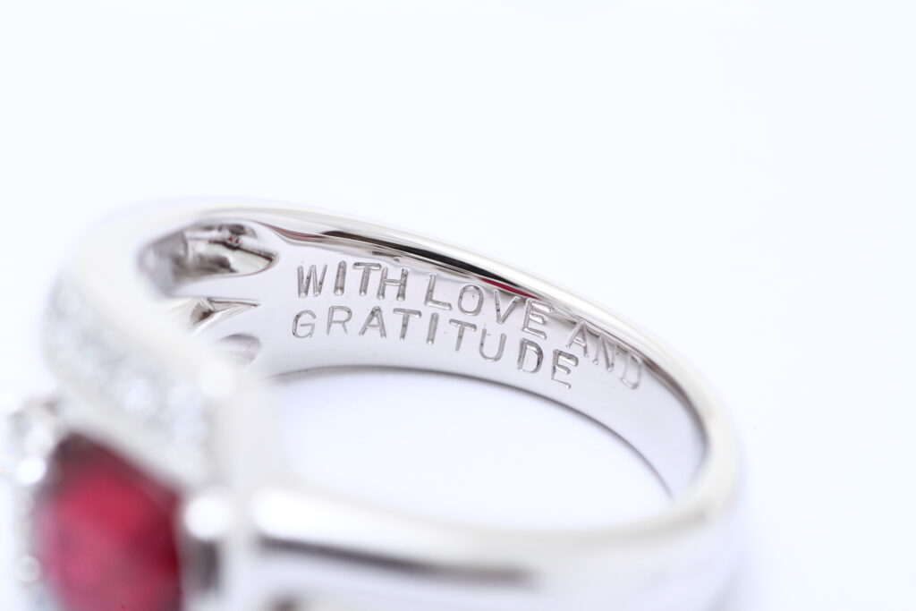 ルビーの指輪 オーダーメイドジュエリー