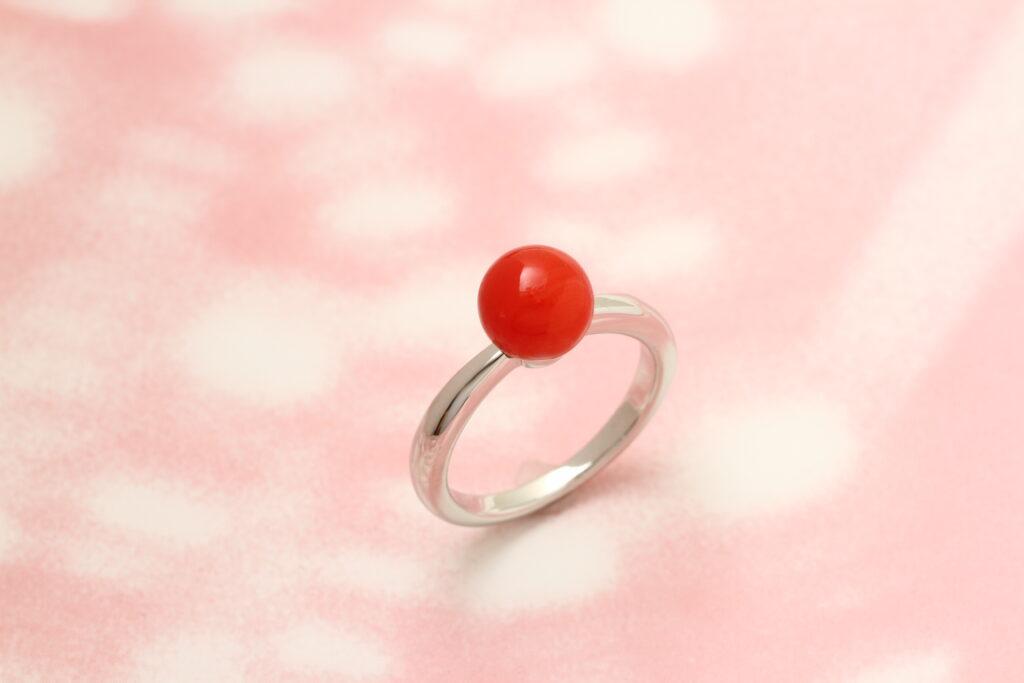 サンゴの指輪 ジュエリーリフォ―ム