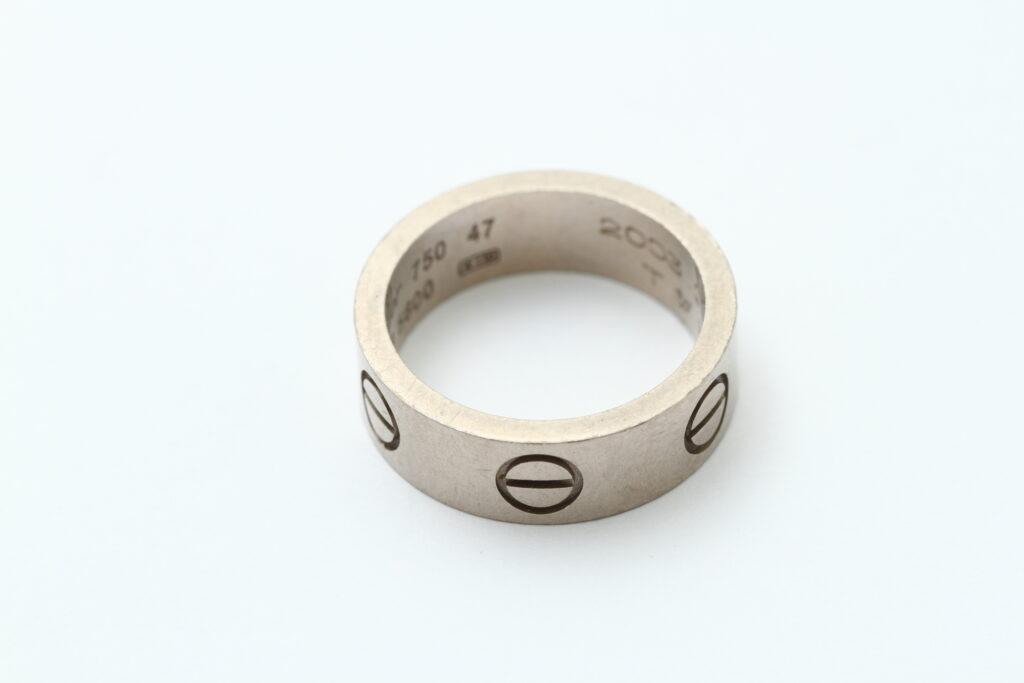 指輪の修理 カルティエの指輪のフルメンテナンス