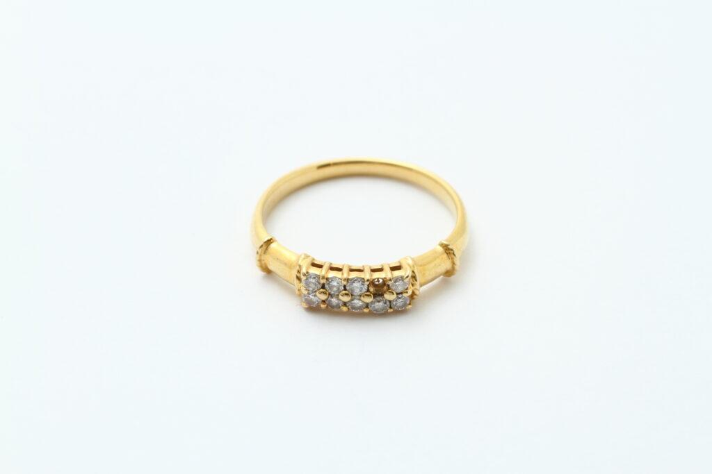 指輪の修理 ダイヤ落ち フルメンテナンス ビフォアー