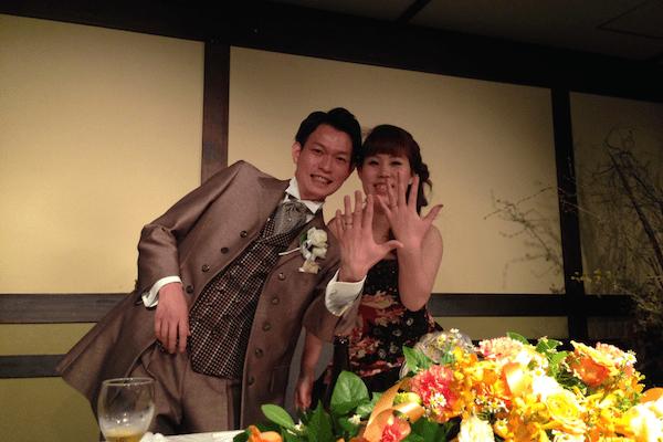 写真:結婚式での様子