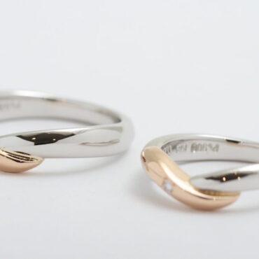 オーダーメイド結婚指輪 Pt900 & K18RG (レッドゴールド)参考上代¥400.000