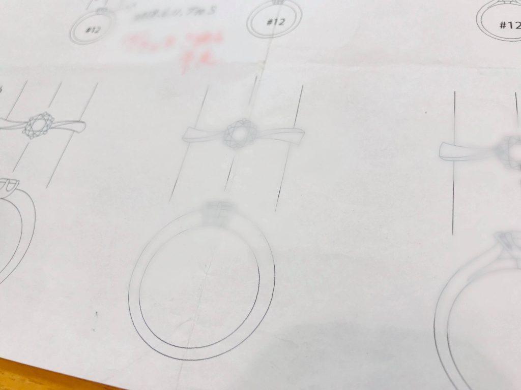 ダイヤ立爪指輪のリフォームデザイン