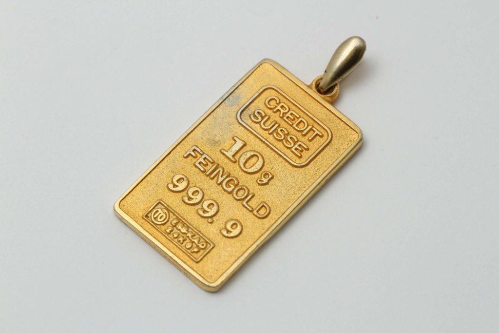 偽物のゴールドインゴッド