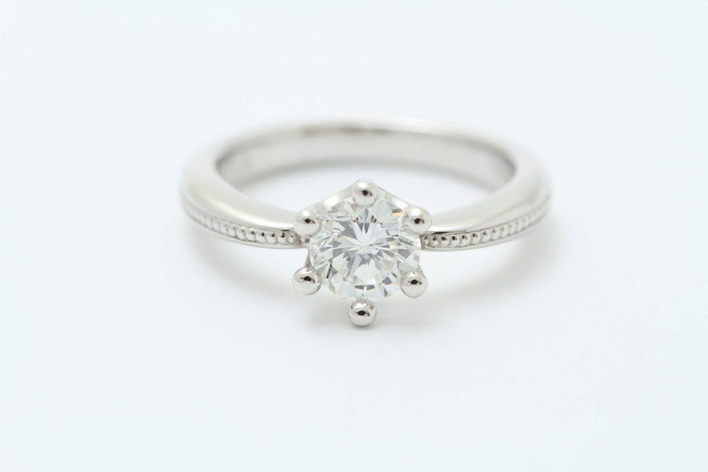 IFダイヤ立爪の指輪リフォーム ミルククラウンデザインが完成