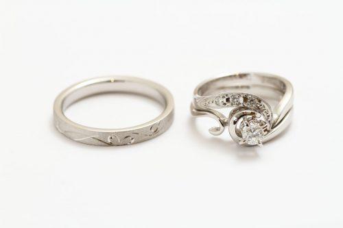 オーダーメイド プラチナの指輪 和彫り 継承ジュエリー ジュエリーTAKA