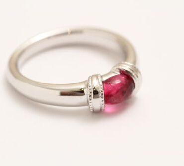 オーダージュエリー 指輪 ピンクトルマリン K18WG
