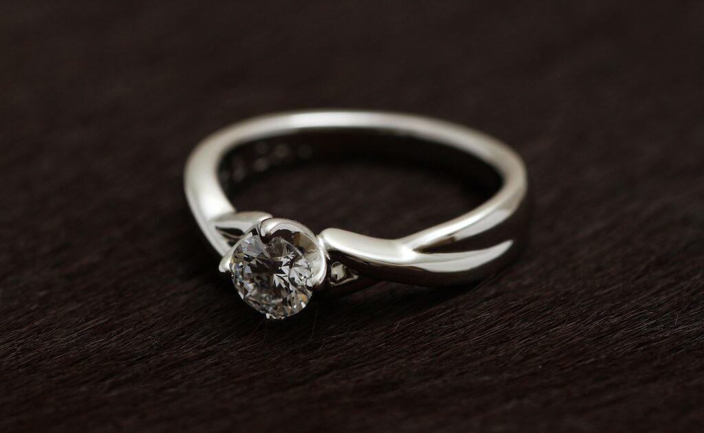 ダイアモンド 0.324Ct Dカラー VS1 H&C3EX Pt900 オリジナルオーダメイド結婚指輪