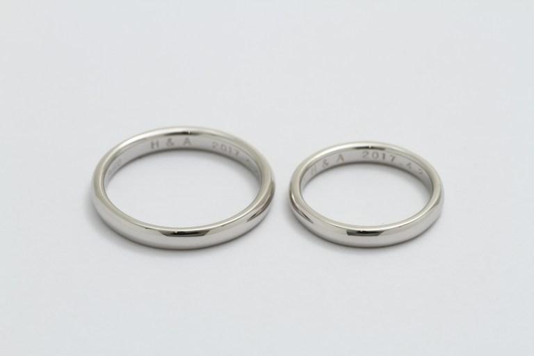 オーダーメイド結婚指輪Pt900