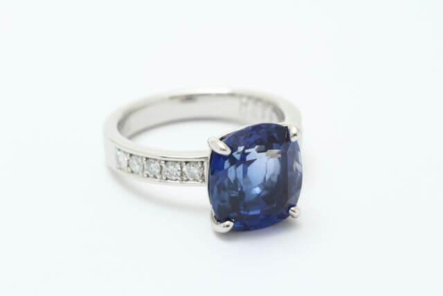 お持込みサファイヤの指輪が完成しました!