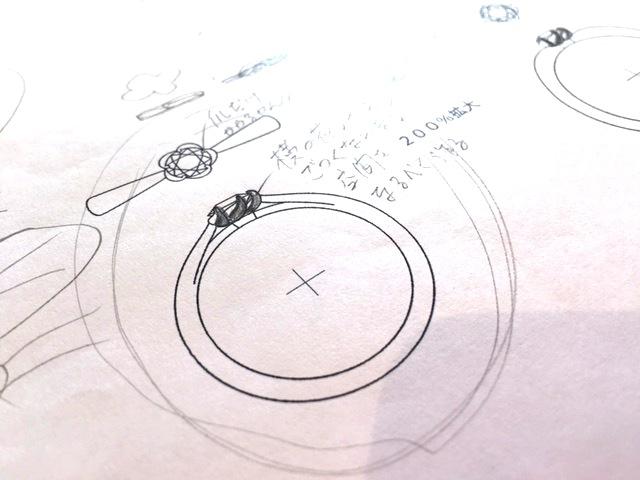 オーダーメイドの婚約指輪デザイン画