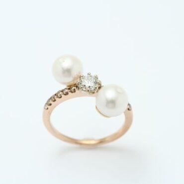 真珠の指輪リフォーム後
