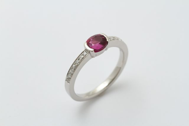 オーダーメイドのルビー指輪