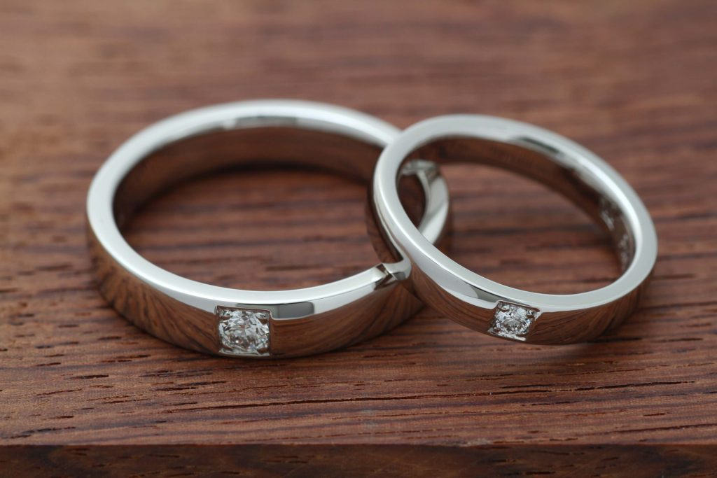 フルオーダーメイドの結婚指輪 VSup ダイヤモンド+Pt950