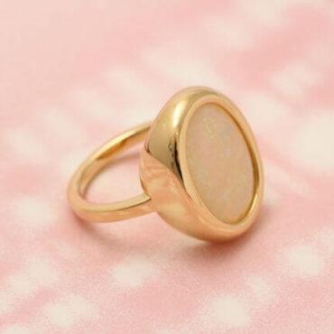 オパール指輪リフォーム例