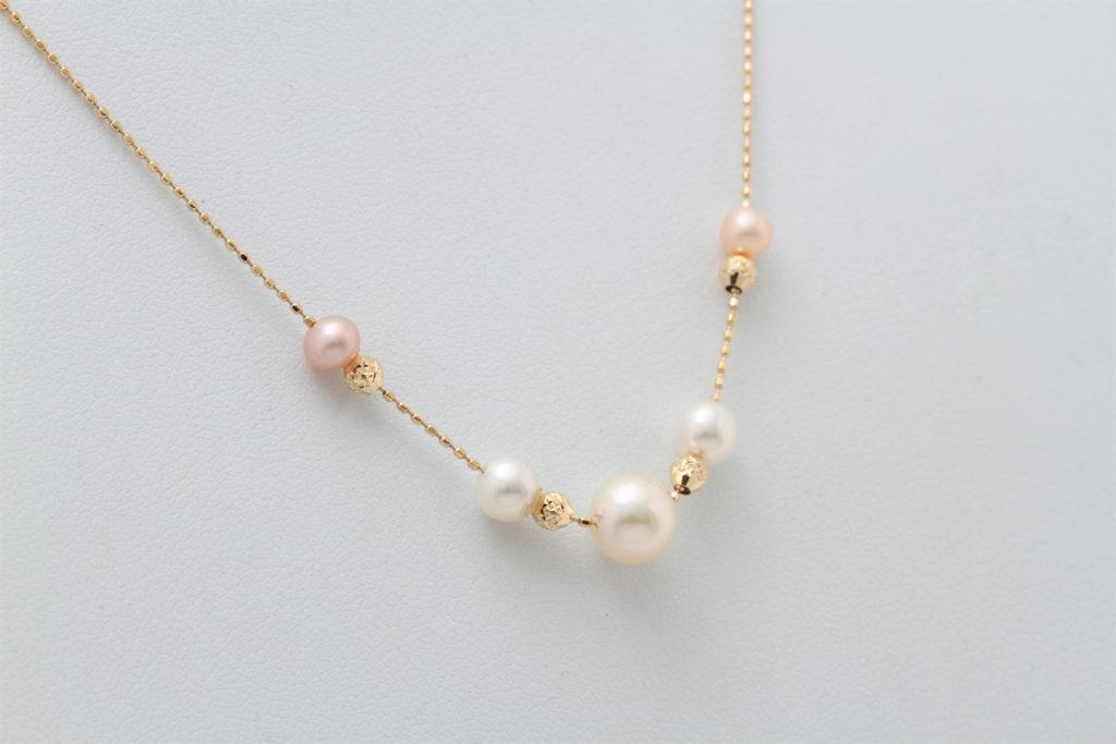 真珠のネックレス リフォームの完成