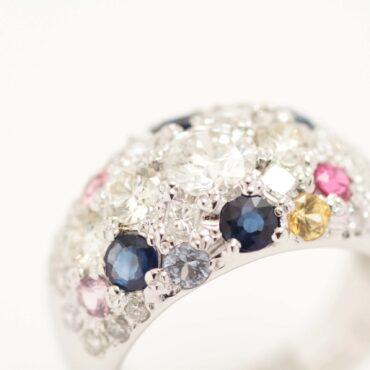 外した宝石を一つの指輪にまとめました!