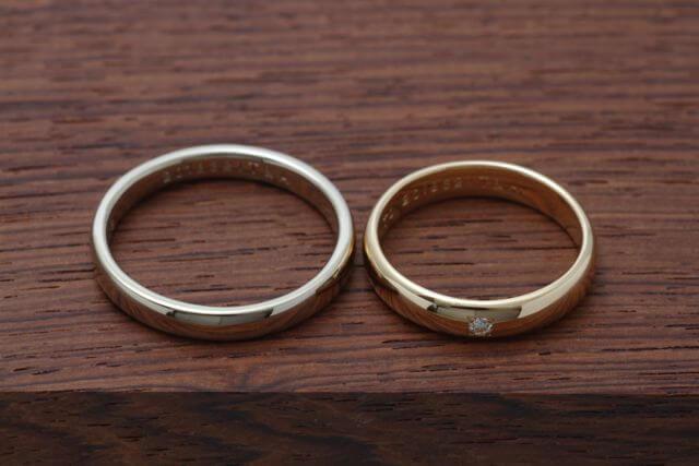 継承されたジュエリーを使って結婚指輪に加工しました