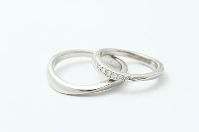 オーダーメイド結婚指輪Pt950+メレーダイヤモンド