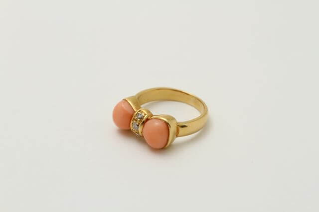 珊瑚の指輪リフォーム例です!