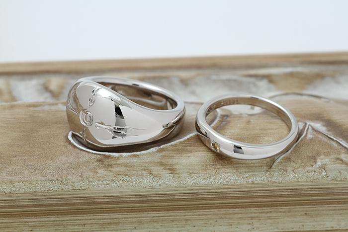 写真:オーダーメイド結婚リング