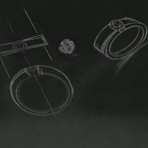 ダイヤ指輪のオーダーメイドオリジナルデザイン