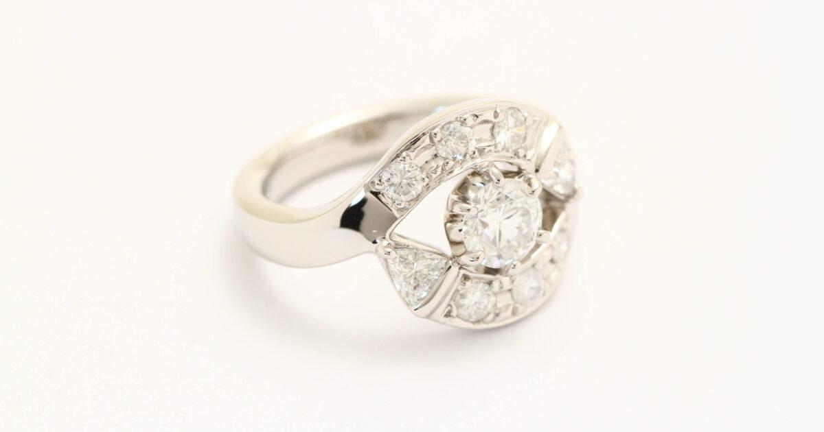 ダイヤモンドの指輪が完成しました!