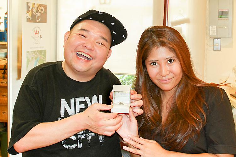 写真:婚約指輪をオーダーくださったお客様