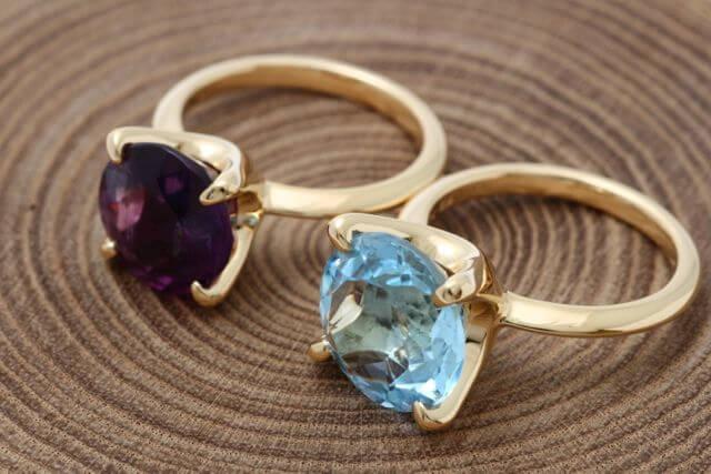 お持込み宝石でお仕立てした指輪