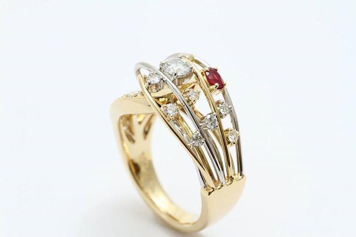 ルビーとダイヤモンドのジュエリーリフォーム  アフター