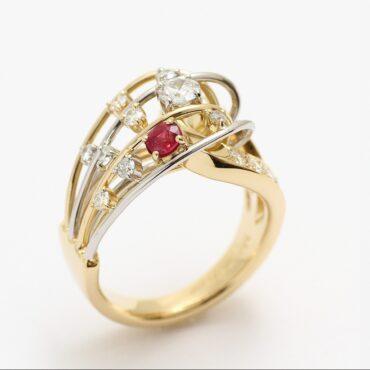 プレミアムリフォーム Pt900K18指輪