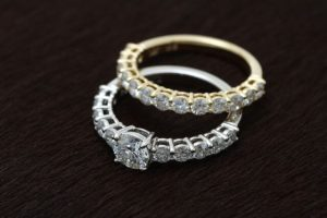 オーダーメイドのダイヤモンドの指輪完成