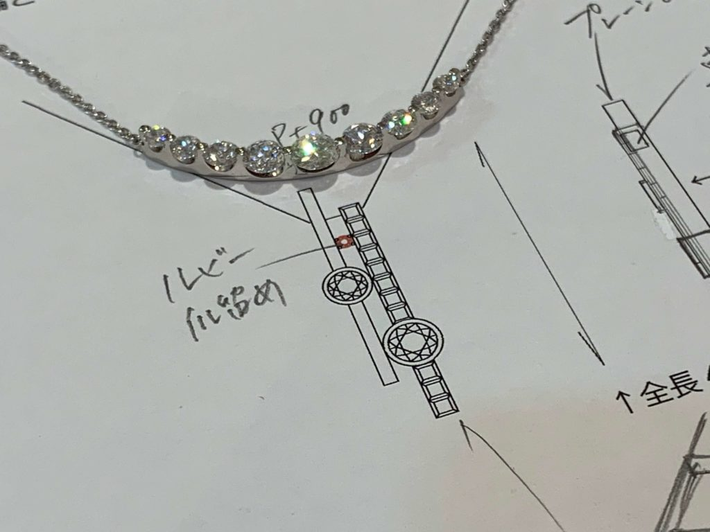 ネックレスデザイン画
