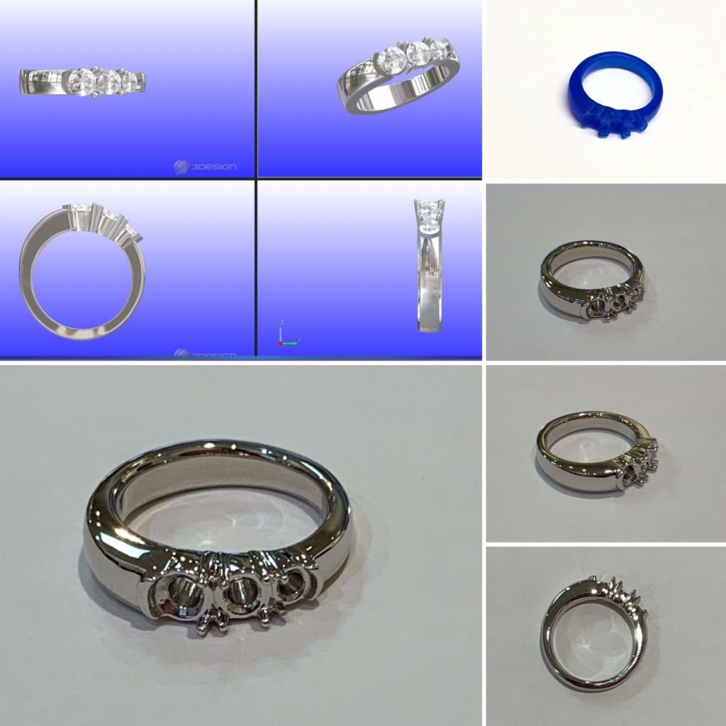 指輪の制作工程