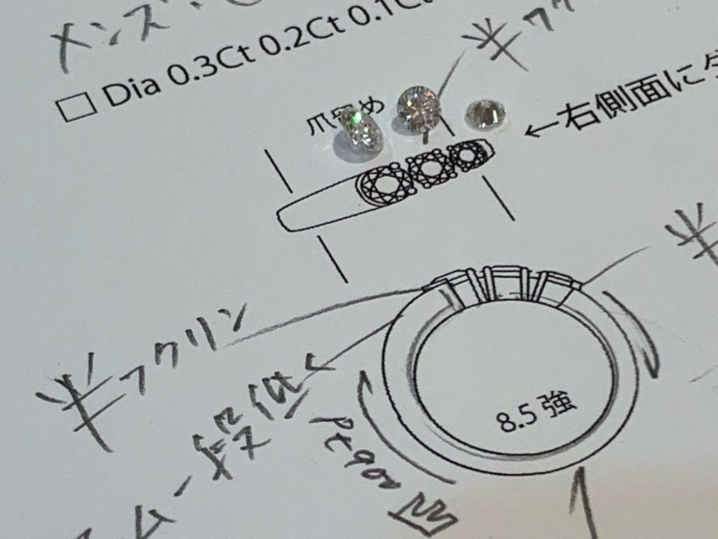 メンズ指輪デザインご提案