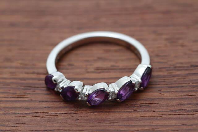 プラチナアメシスト指輪