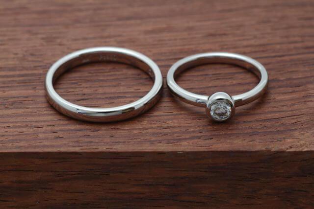 オーダーメイドの結婚指輪が完成しました!
